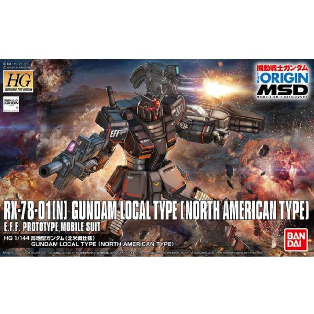 BANDAI 1/144 HG Gundam Local Type N/American F (G0218428)