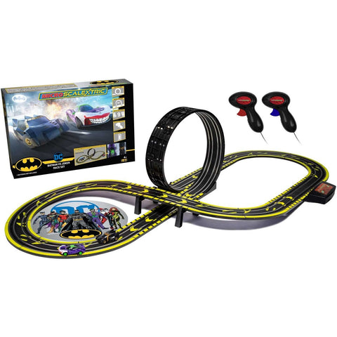 MICRO SCALEXTRIC Batman vs Joker Set Battery Powered Slot C