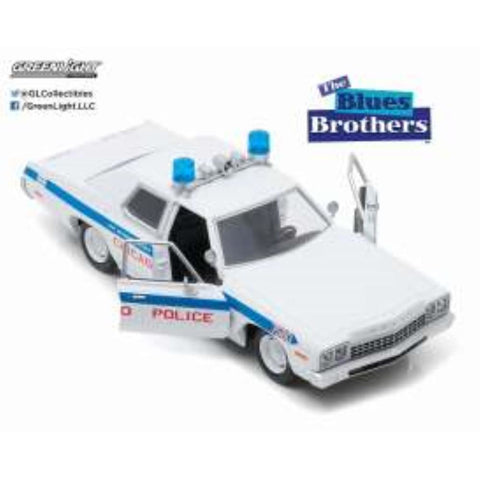 GREENLIGHT 1:24 1975 Dodge Monaco Blues Brothers Movie (GL84012) - Hearns Hobbies Melbourne - GREENLIGHT
