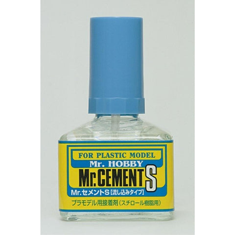 MR HOBBY Mr Cement S 40ml - MC129 - Hearns Hobbies Melbourne - MR HOBBY