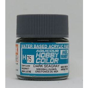 Image of MR HOBBY Aqueous Semi-Gloss Dark Sea Grey - H075