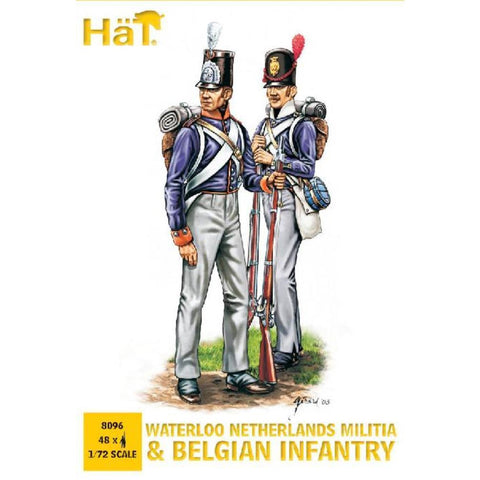 Image of HAT 1/72 Waterloo Netherlands Militia and Belgian Infantry