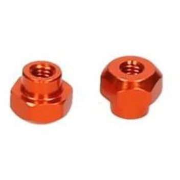HB BATTERY NUT (ORANGE/2pcs) ( HB116321 )