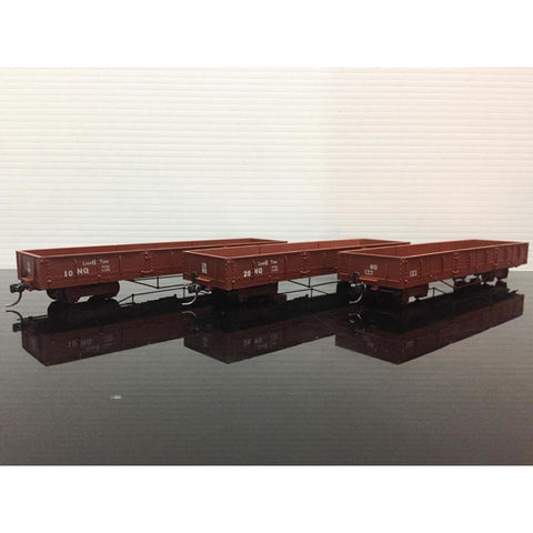 HASKELL NQR Puffing Billy Wagons - Pack 3 (Lighter Brown) (