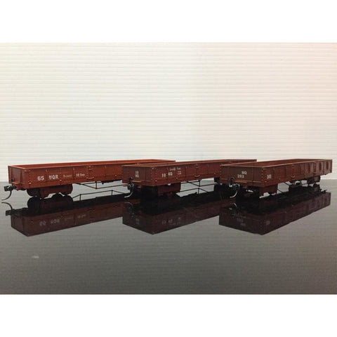 HASKELL NQR Puffing Billy Wagons - Pack 9 (Mixed Colours) (HK-NQR9)