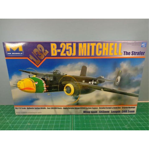 HONG KONG MODELS 1/32 B-25J Mitchell Strafer - Hearns Hobbies Melbourne - HONG KONG MODELS