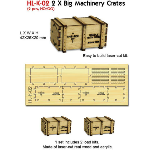 2 X Big Machineary Crates (Kit)