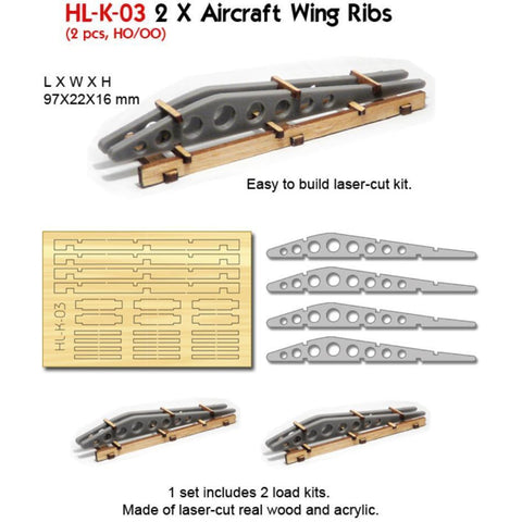 2 X Aircraft Wing Ribs (Kit)