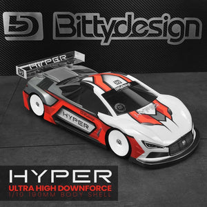 BITTYDESIGN HYPER clear body 1/10 TC 190mm, Light weight