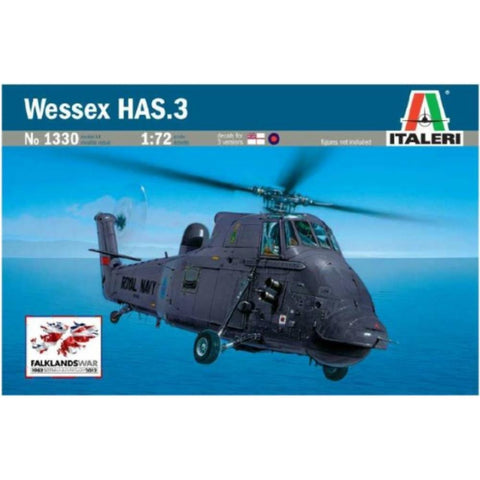 ITALERI 1/72 Wessex HAS.3 Plastic Model Kit *Aust Decals*