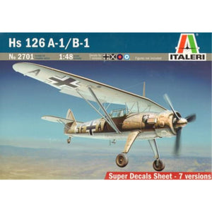 ITALERI 1/48 HS 126 A-1 / B-1 Plastic Model Kit *Aust Decal