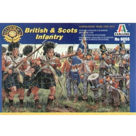 ITALERI 1/72 British and Scots Infantry Napoleonic Wars Plastic Model Kit