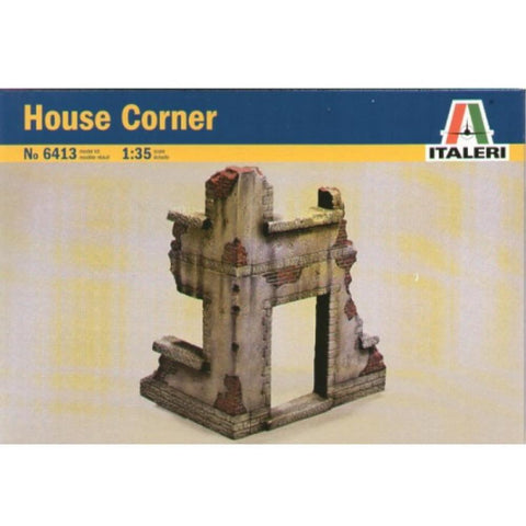 ITALERI 1/35 House Corner Plastic Model Kit