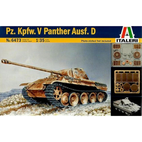 *DISC*ITALERI 1/35 G TANK SDKFZ  V PANTHER AUSF D PHOTO ETCH