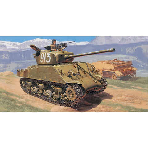"ITALERI 1/35 M4A2 76mm ""Wet"" Sherman Plastic Model Kit"