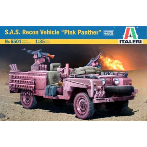 "ITALERI 1/35 S.A.S. Recon Vehicle ""Pink Panther"" Plastic Mo"