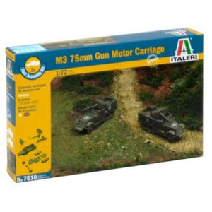 ITALERI 1/72 M3 75mm Gun Motor Carriage (2 Fast Assembly Pl