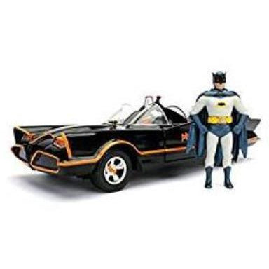 JADA 1:24 1966 Classic TV Series Batmobile w/Batman Figure Movie JA98259