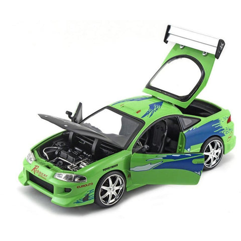 JADA 1:24 F&F Brian's Mitsubishi Eclipse - Fast n Furious Movie JA98603