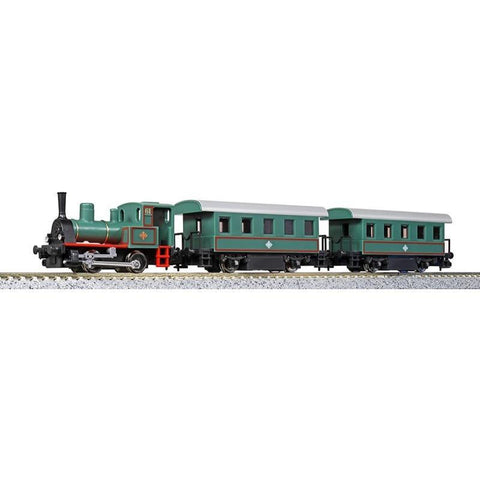 Image of KATO N Pocket Line Steam Loco Set in Green