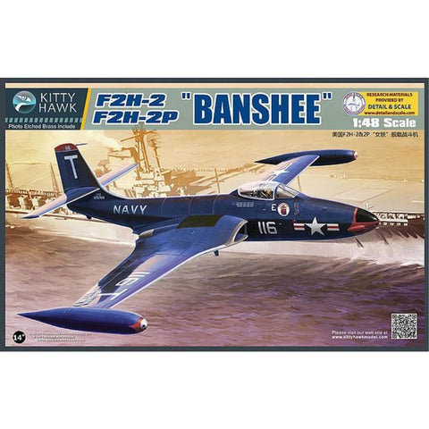 KITTY HAWK F2H-2/F2H-2P Banshee (KH80131) - Hearns Hobbies Melbourne - KITTY HAWK
