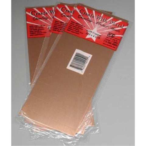 K&S COPPER SHEET METAL .025in - (1 SHEET PER BAG)