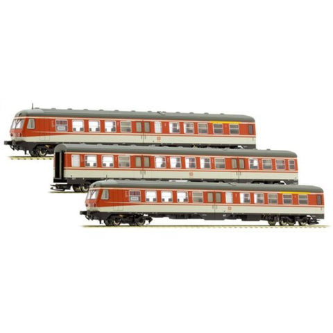 LILIPUT 3 Car DMU BR 614 DB Orange & Grey Ep.IV AC