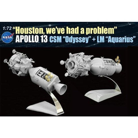 "DRAGON 1/72 ""Houston, we've had a problem"", Apollo 13 CSM & LM (50th Ann.) Plastic Model Kit"