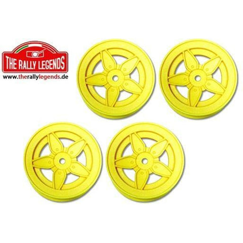 THE RALLY LEGENDS 1/10 Rally (Stratos) Wheels 4Pcs Yellow