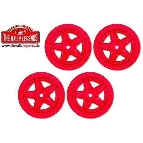 THE RALLY LEGENDS 1/10 Rally (Stratos) Wheels 4Pcs Red