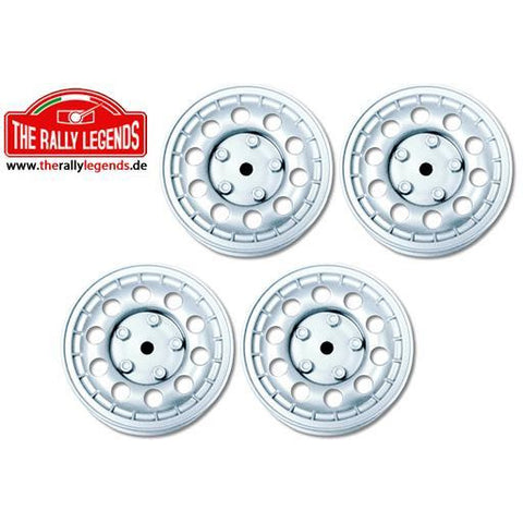 THE RALLY LEGENDS 1/10 Rally Wheels (Lancia) 4Pcs Silver