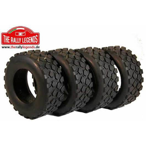 THE RALLY LEGENDS 1/12 Truck Tyres (Trakker) 4Pcs