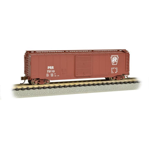 Image of BACHMANN N scale 50' Sliding Door Boxcar PRR #19459