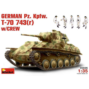 MINIART German Pz.Kpfw. T-70743(r) w/ Crew