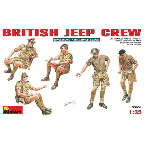 MINIART British Jeep Crew.