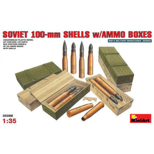 MINIART 1/35 Soviet 100-mm Shells with Ammo Boxes