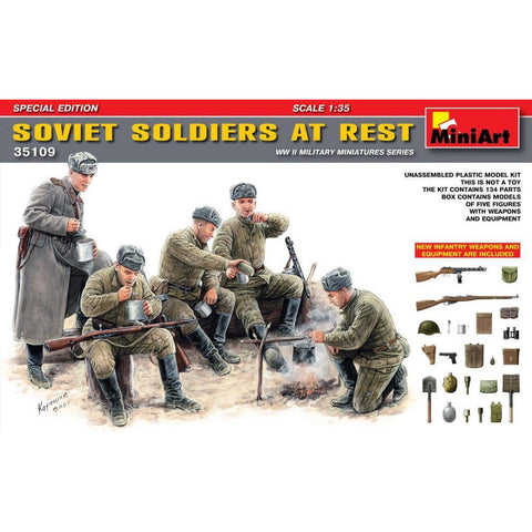 MINIART Soviet Soldiers at Rest. Special Edition