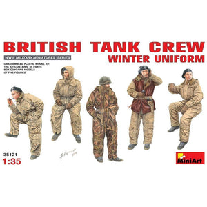 MINIART 1/35 British Tank Crew (Winter Uniform)