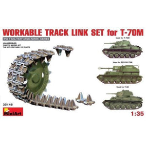 MINIART 1/35 Workable Track Link Set for T-70M Light Tank