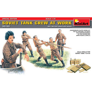 MINIART 1/35 Soviet Tank Crew at Work. Special Edition