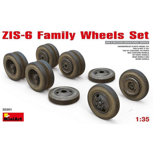 MINIART 1/35 ZIS-6 Family Wheels Set