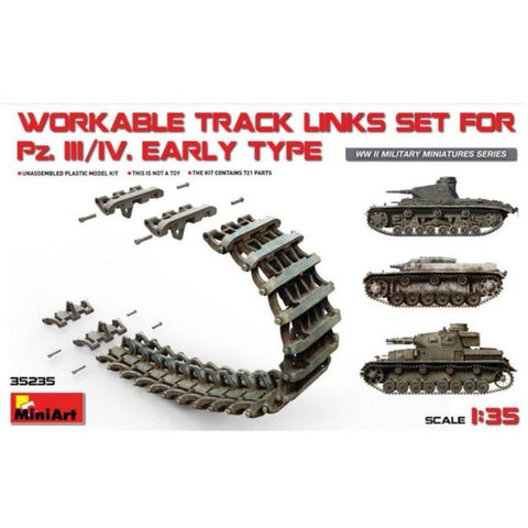 MINIART  Pz.Kpfw III/IV Workable Track Links Set.Early