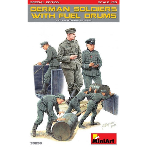 MINIART German Soldiers w/ Fuel Drums. Special Edition