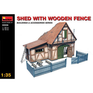 MINIART 1/35 Shed with Wooden Fence