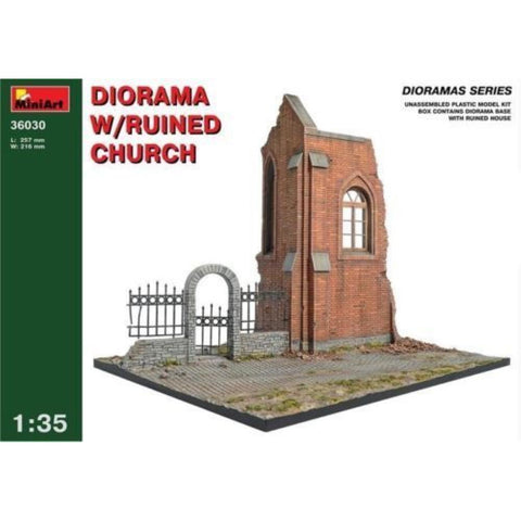 MINIART Diorama w/Ruined Church