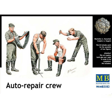 MASTER BOX 1/35 German WW2 AutoRepair Crew (MB3582)