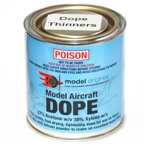 MODEL ENGINES DOPE THINNERS 250ml - Hearns Hobbies Melbourne - Model Engines