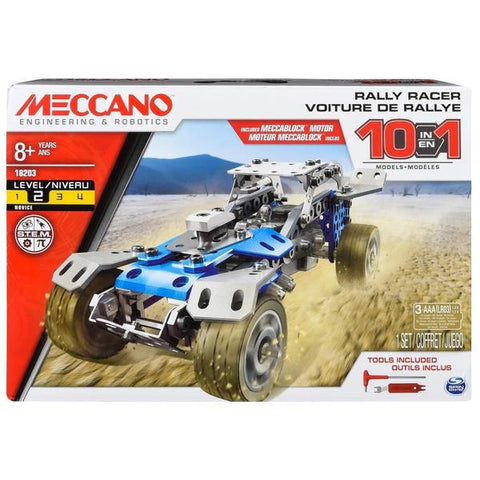 MECCANO Multi-Model Rally Racer 10-Model Set