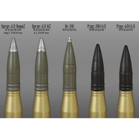 Hearns Workshop 1/48 German 88mm KwK 43 shell set