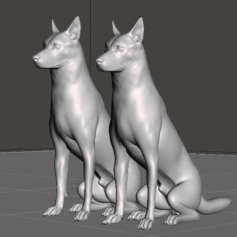 Hearns Workshop 1/32 German Shepherds (2)
